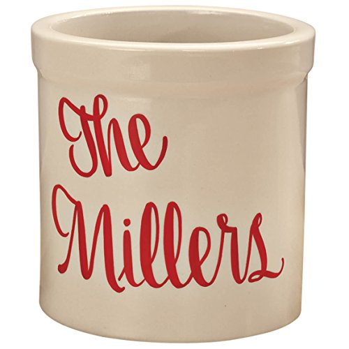 Personalized Stoneware 2 Quarts Natural Customizable