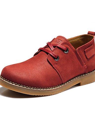 Marron Plat Brown Eu36 Chaussures Mariage Bordeaux 2016 Talon us6 Cuir Femme Confort amp; Décontracté Richelieu Cn36 Njx Bureau Uk4 Travail Z84qPTwf