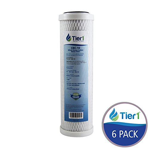 Tier1 Pentek C1, American Plumber W5CIP, Culligan D-10 Comparable 5 Micron 10 x 2.5 Carbon Water Filter 6 Pack