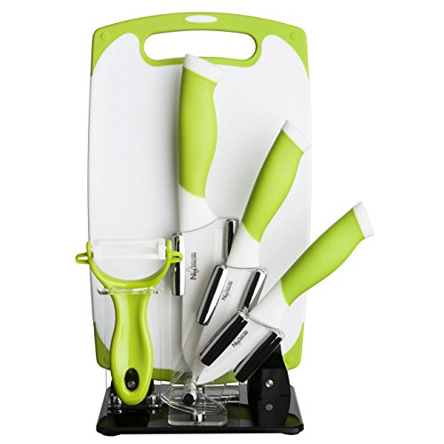 New England Cutlery 84063 6 Pc. Green Kitchen Cutlery 6 Piec