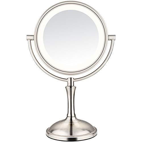 10x Makeup Mirror - AmnoAmno LED Makeup Mirror-10x Magnifying,7.8