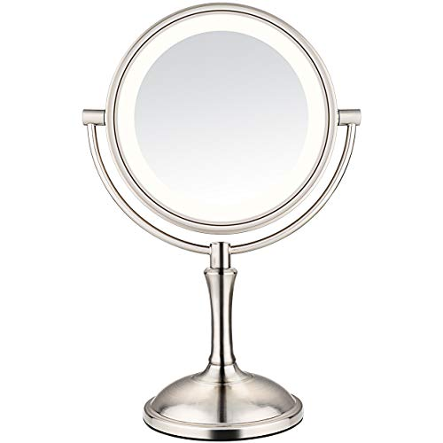 (AmnoAmno LED Makeup Mirror-10x Magnifying,7.8