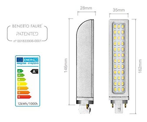 PL LED casquillo G24d-2 12 W 2 22 pines blanco Cálido ángulo de haz