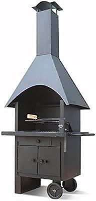 Serina - Barbacoa para terraza (móvil), diseño de chimenea: Amazon.es: Jardín