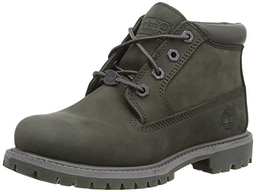 Timberland Women's Nellie Waterproof Boot, Dark Grey Nubuck, 8 W US