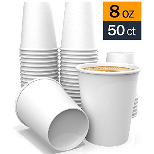 - Paper Cups – White Coffee Paper Cups for Tea Water and Cocoa (8 oz)