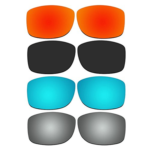 4 Pair Replacement Polarized Lenses for Oakley Jupiter Squared Sunglasses Pack - Jupiter Oo9135 Squared