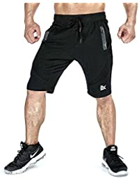 Men's Gym Shorts, Fitted Active Sport Running Mesh Shorts With Pockets