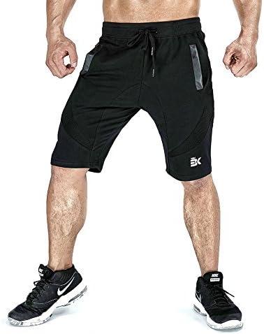 [Patrocinado] brokig Running para Hombre Pantalones Cortos De Gimnasio, bajera ajustable Active Sport Malla Pantalones Cortos con bolsillos