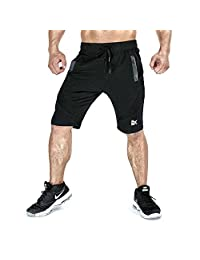 BROKIG Men's Gym Running Workout Athletic Shorts Activewear with Pockets