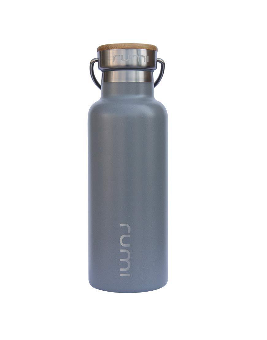 Rumi Lota ウォーターボトル 竹製蓋 473ml B07GD27FTZ ストーン ストーン