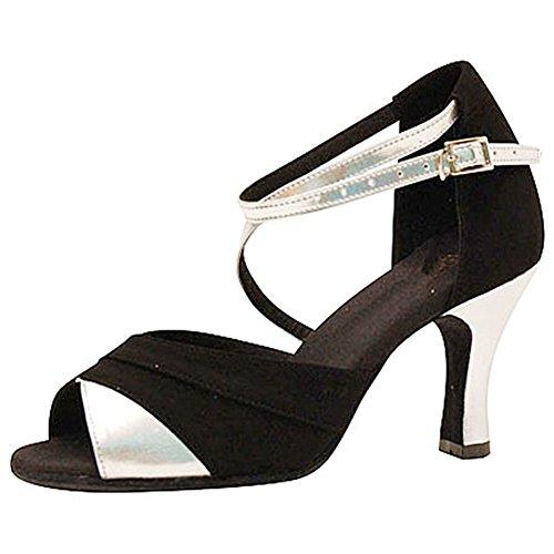 Interiores Zapatos Redondo Fondo Zapatos Baile Gamuza Social Latino De A Dedo Baile Salsa Mujer S Pie GUOSHIJITUAN Blando De Zapatos De Baile del Sandalia XT18q