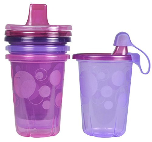 The First Years Take & Toss Spill-Proof 4-Pack Sippy Cups -