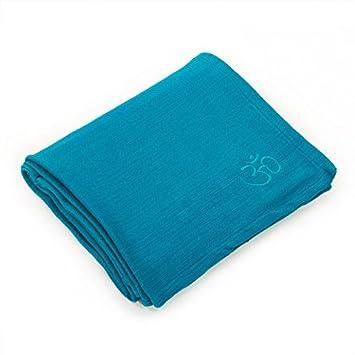 100% algodón Yoga Manta en Turquesa/Gasolina: Amazon.es ...