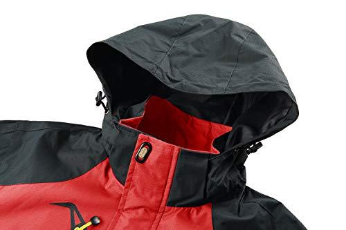Avec Veste Softshell Légère Tacvasen Imperméable Amovible Pour Rouge Capuche Manteau Hommes xwBqUg