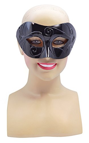 Retail Zone Men's Half Face Eye Masquerade Ball Mask Halloween Highwayman Adult One Size (Female Highwayman Costume)