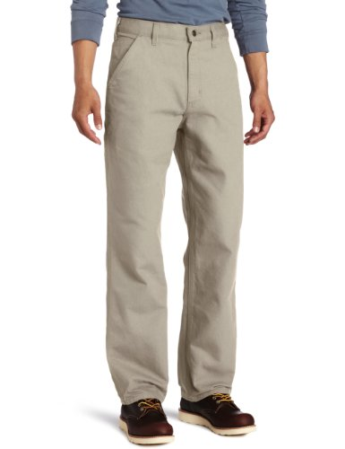 Carhartt Men's Washed Duck Work Dungaree Pant,Desert,34W x 30L