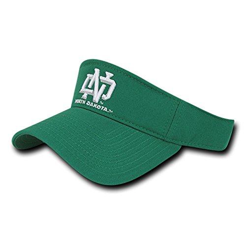 BHFC University of North Dakota UND Fighting Sioux Cotton Polo Sun Golf Tennis Visor Cap Hat