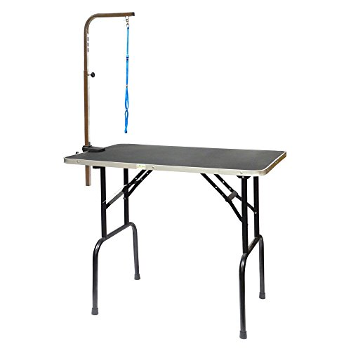 Go Pet Club Pet Dog Grooming Table with Arm, 42-Inch