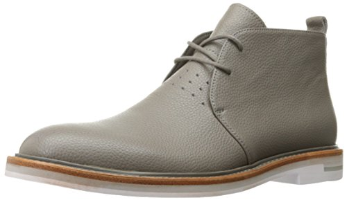 Calvin Klein Men's Jonas Tumbled Leather Ankle Bootie, Toffee, 10 M US by Calvin Klein