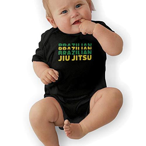 PA2PAFU Brazilian Jiu Jitsu Baby Clothes Babies Boys' Short-Sleeve Creeper Jumpsuits Rompers Black (Jitsu Clothes Baby Jiu)