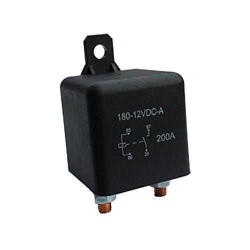 Generic Heavy High Current 12VDC 200A AMP 2.4W Continuous Work 4 Pins Car Truck Auto Start Relay Switch Fixing Hole for Large Motor