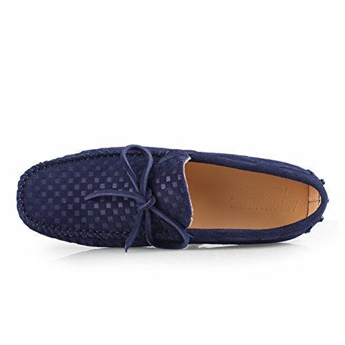 Go Tour Mens Moccasin Loafers Casual Suede Leather Driving Shoes Comfort Slip-on Tassel Loafer B-dark Blue sxXxK9PE
