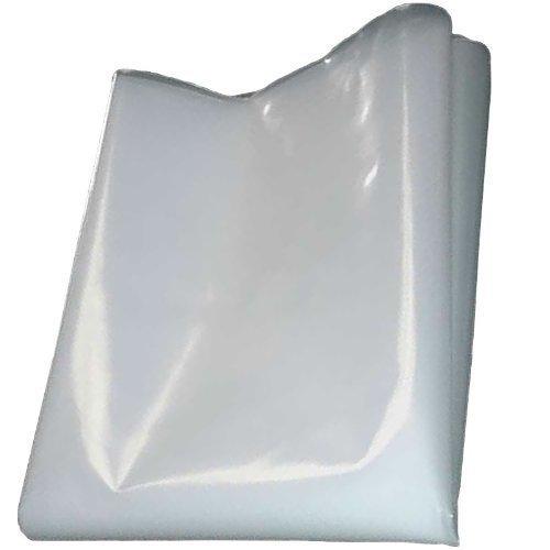 QVS Shop 4M X 6M Clear Polythene Sheeting 125Mu / 500G Plastic Sheet Protection Cover Gardener' s Dream