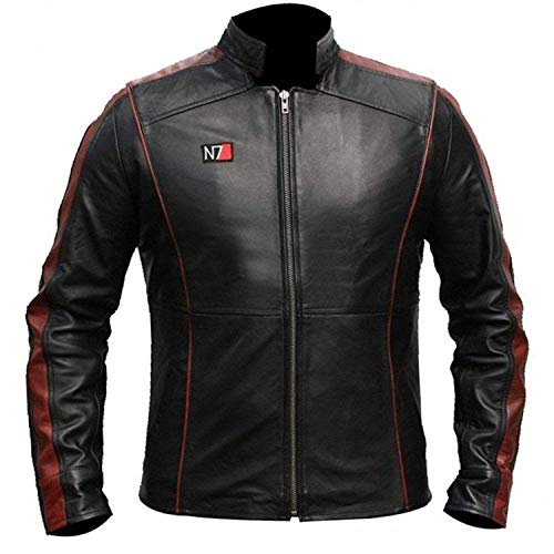 CHICAGO-FASHIONS Mass Effect 3 Commander Shepard N7 Costume Leather Jacket