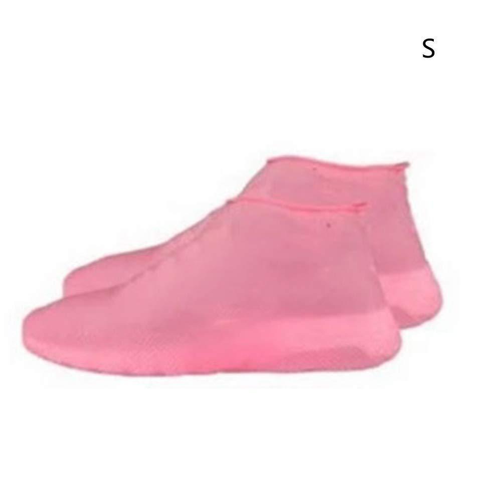 DDbrand Antiscivolo Lattice Copriscarpe Riutilizzabile Pioggia Impermeabile Stivale Copriscarpe Scarpe Rosa Small
