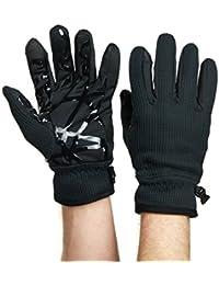 Mens Knit Touchscreen Winter Gloves Navy Blue