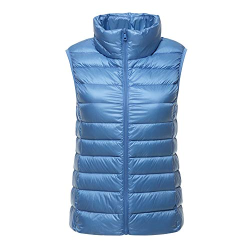 Misscat Women's Stand Collar Gilet Outdoor Lightweight Quilted Zip Down Vest -