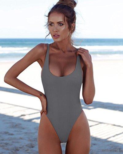 Da Bikini Bagno Up Pezzo Siamese Monospalla Nisengs Grigio Push Interi Un Donna Interi w5aWxqOnHv