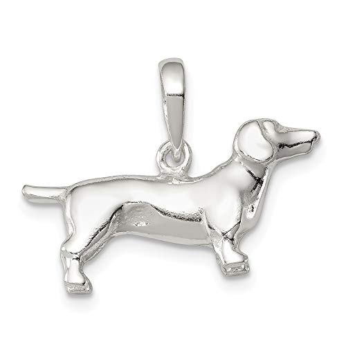 925 Sterling Silver Dachshund Pendant Charm Necklace Animal Dog Fine Jewelry Gifts For Women For -