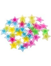 T TOOYFUL 36 stks Kleurrijke Plastic Clip Sterren Kralen Kids Fietswiel Spaak Kralen Decor
