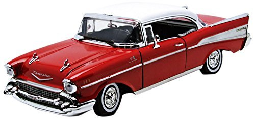 - Motor Max Motormax 1957 Chevy Bel Air Hard Top 1/18 Diecast Model Car Red
