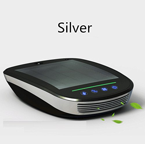 EOEO Intelligent solar car air purifier to remove formaldehyde humidification car with aroma to taste PM2.5 haze (Sliver) by NEW