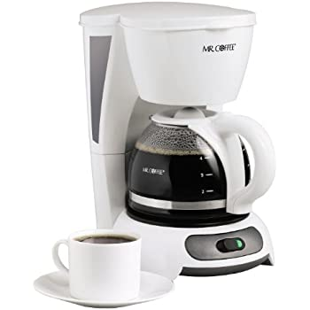 Mr. Coffee TF4-RB 4-Cup Switch Coffeemaker, White