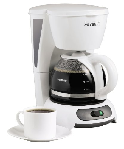 Mr. Coffee 4-Cup Switch Coffee Maker, White - TF4-RB ()