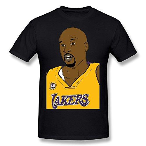 PASSION Men's Lakers Lamar Odom T-shirt Black M
