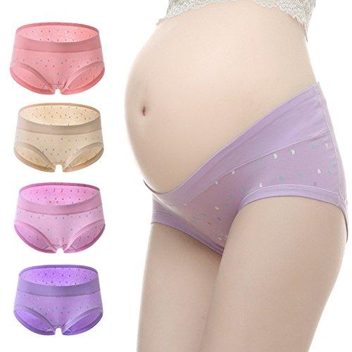 METALIFE Womens Under The Bump Maternity Underwear Pregnancy Briefs