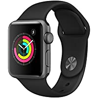 Apple Watch Series 3 38mm Space Gray Aluminum Case with Gray Sport Band