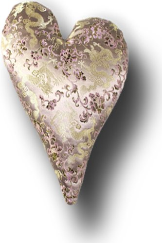 "Candi Andi - 4"" Heart Sachet Pillow - Satin Brocade - Lavender Scented - Dreamy Dragon - SH4-DD"