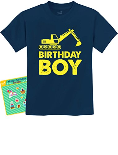 (Birthday Boy Gift Idea - Yellow Tractor Bulldozer Construction Party Kids T-Shirt 2T)