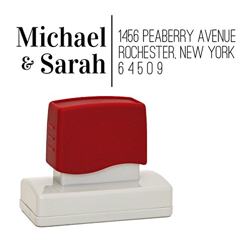 Classy Custom Address Stamp, Business Stamp or Wedding Stamp, Personalized with Your Return Address, Self Inking, Stamper with Premium Ink