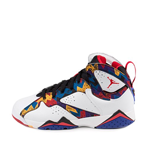 buy online 2caab a9563 Nike Jordan Kids Jordan 7 Retro BP White/Unvrsty Rd/Blk ...