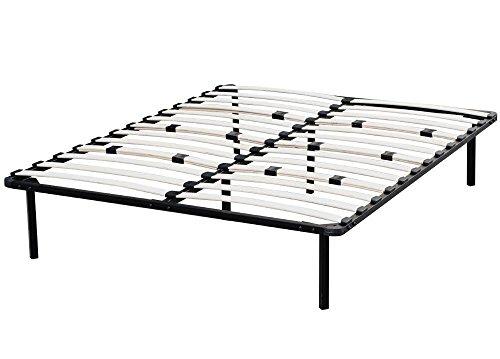 Yaheetech Metal Platform Bed Frame Wood Slats Support 5 Size Mattress Foundation Base Bedroom Furniture (Full)