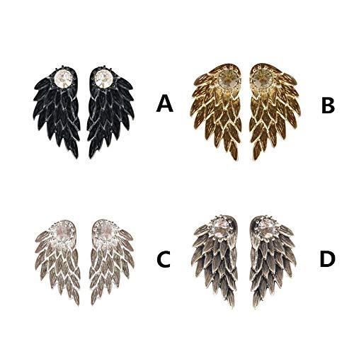 Women's Cool Jewelry Angel Wings Rhinestone Alloy Drop Stud Earrings Hanican, A by Hanican (Image #3)