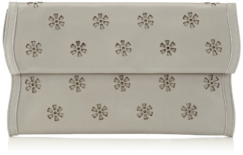 kaviar gauche - Wave Clutch Lasercut, Stringate Donna Grigio (Grau (Grey)