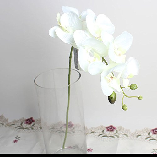 UNAKIM--Artificial Butterfly Orchid Silk Flower Bouquet Phalaenopsis Wedding Home - Mall Tracy Shopping